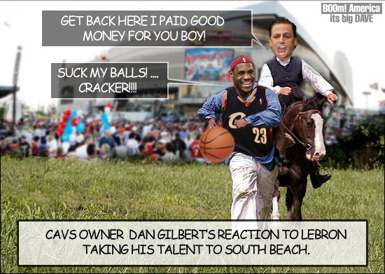 Lebron escapes to Miami.